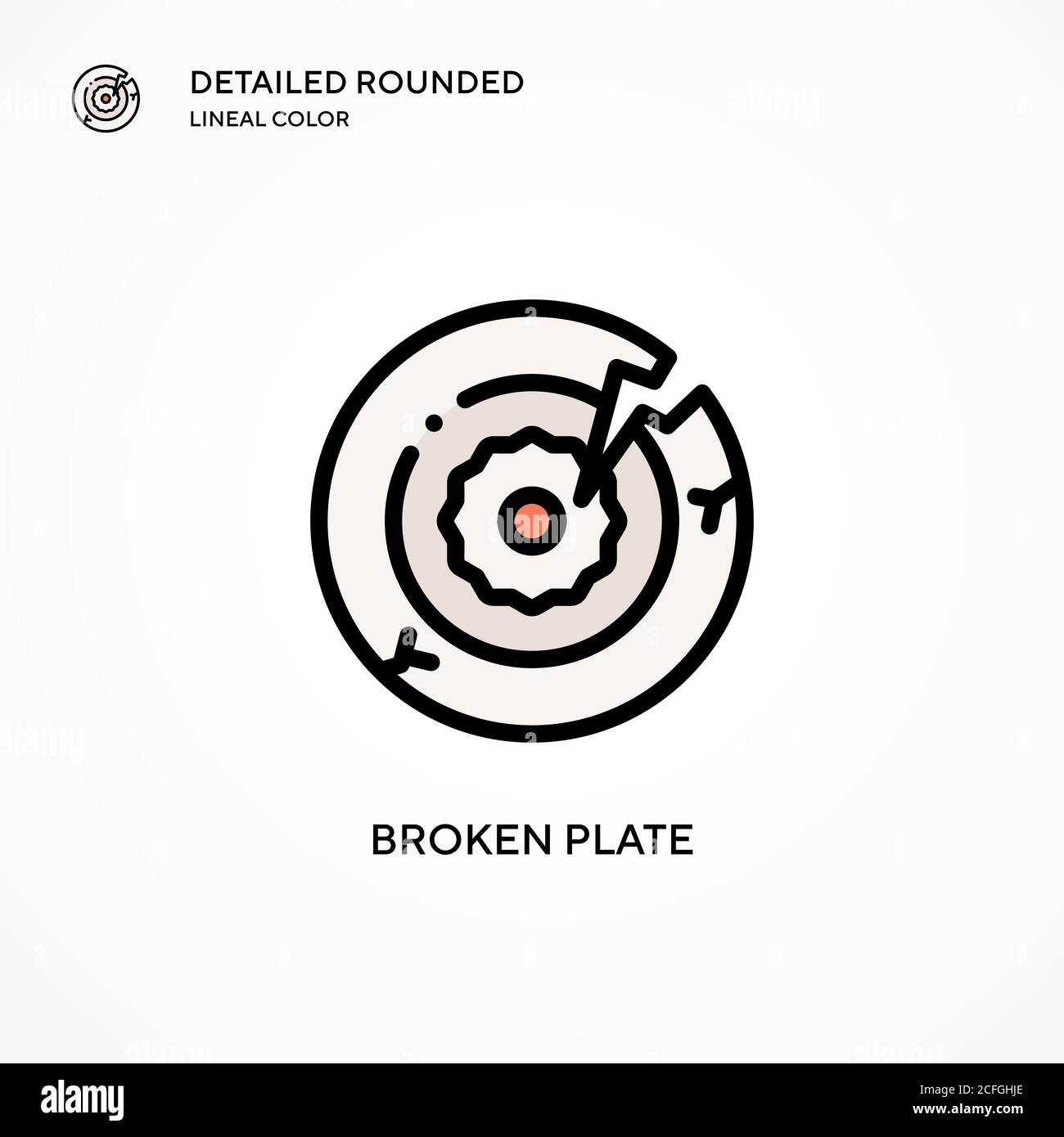 Broken Plate Vector Icon Modern Vector Illustration Concepts Easy To Edit And Customize Stock Vector Image Art Alamy