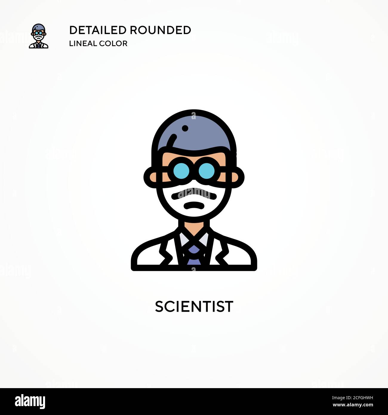 scientist vector icon modern vector illustration concepts easy to edit and customize stock vector image art alamy alamy