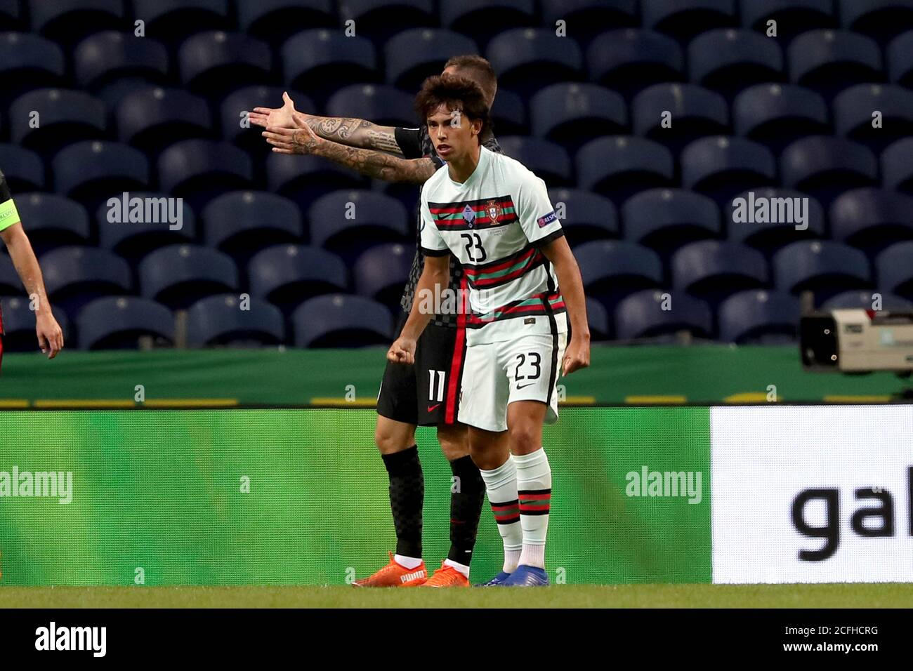 Porto 5th Sep 2020 Joao Felix Front Of Portugal Celebrates After Scoring During The Uefa Nations