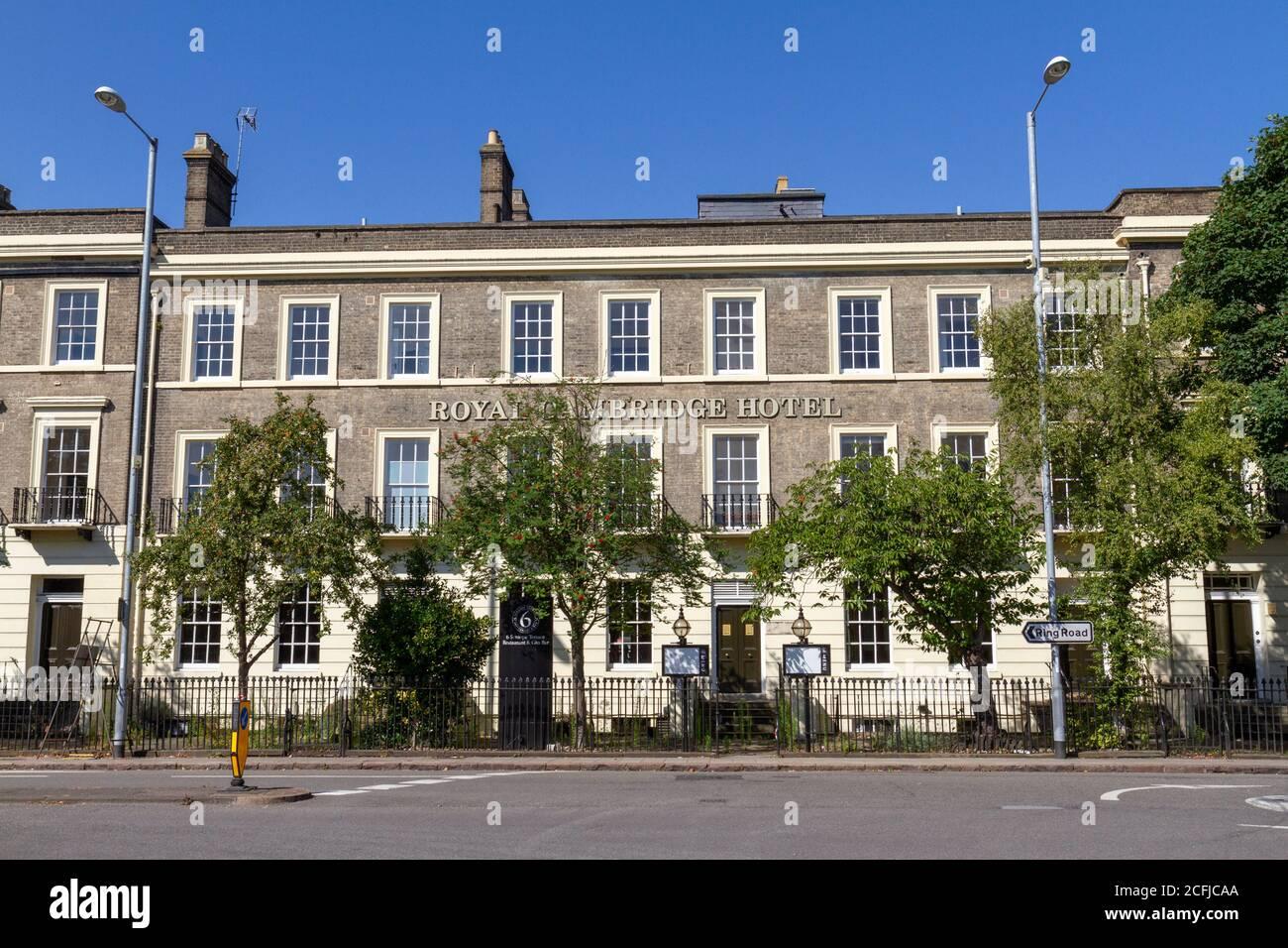 The Royal Cambridge Hotel on Trumpington Street, Cambridge, Cambridgeshire, UK. Stock Photo
