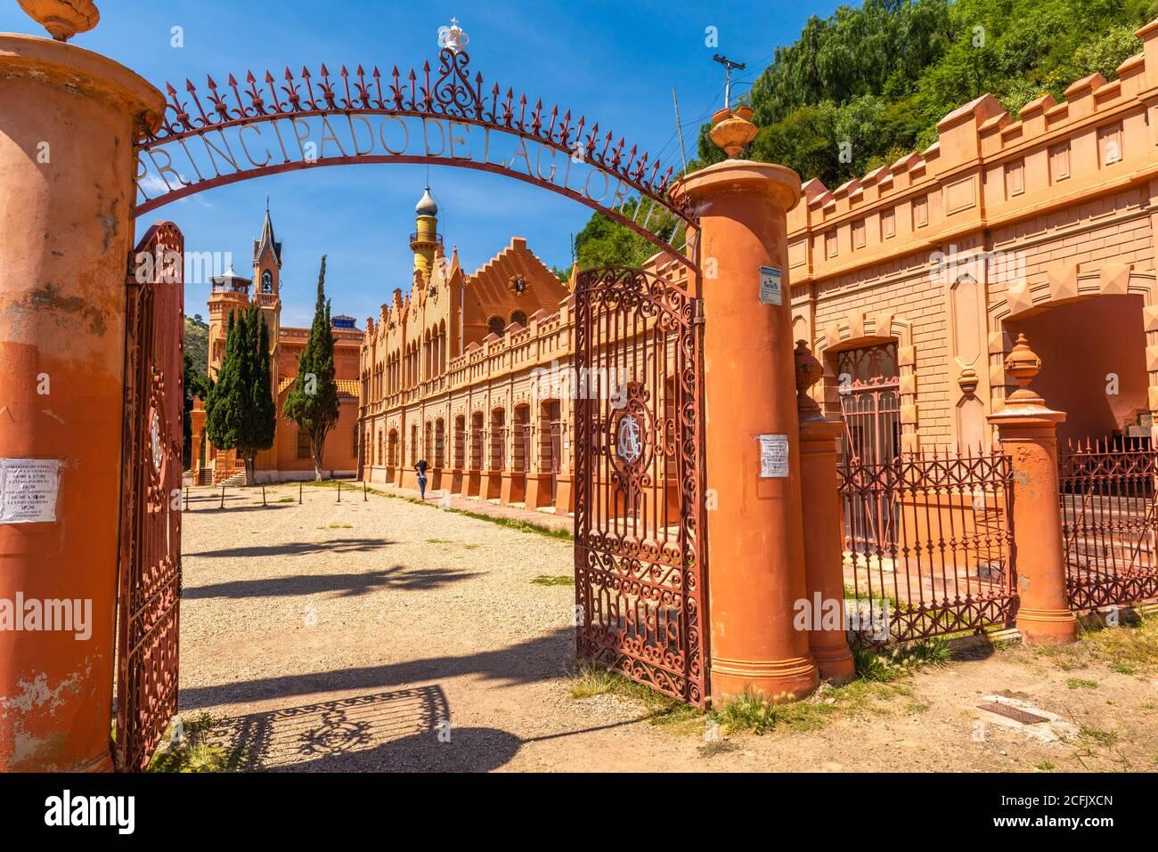 Palace Castillo de la Glorieta place built in 1890s by a minining baro, architectural mishmash, Sucre, Bolivia, Chuquisaca,  Bolivia, Latin America Stock Photo