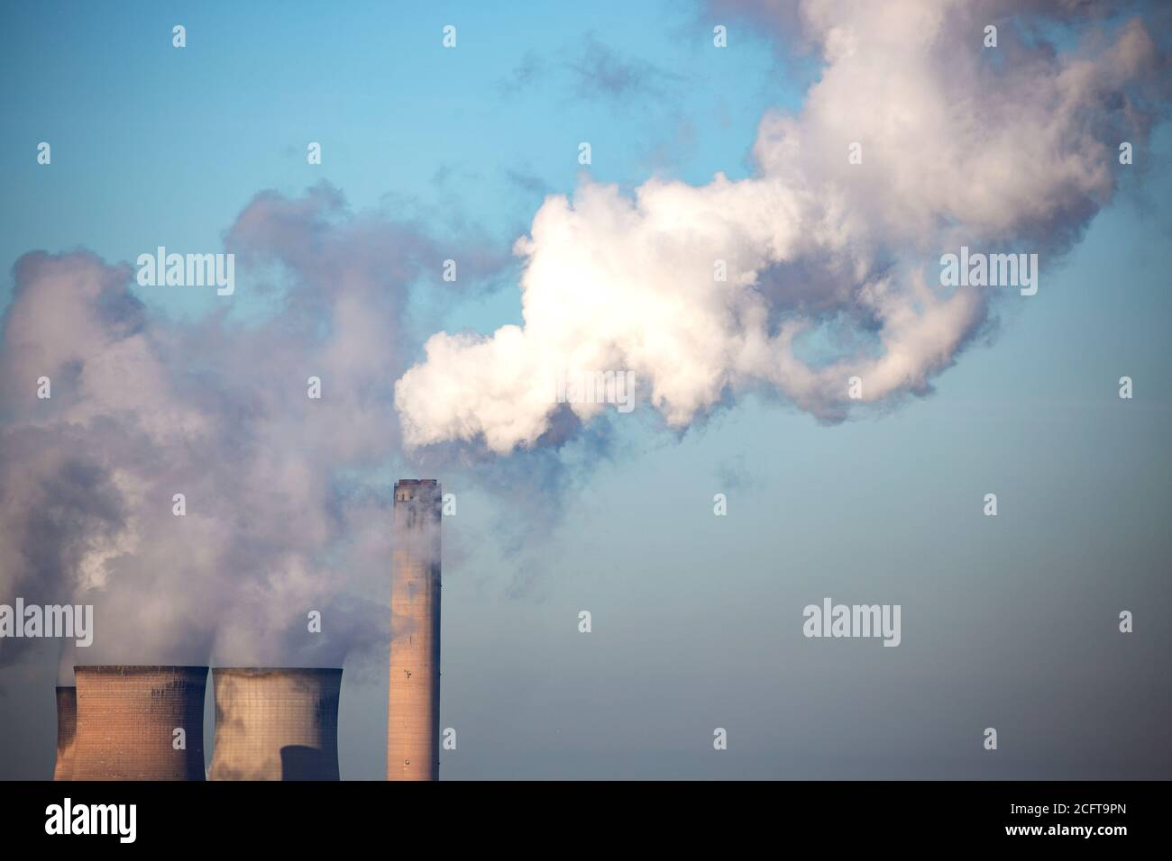 Coal Power Station at Fiddlers Ferry Stock Photo