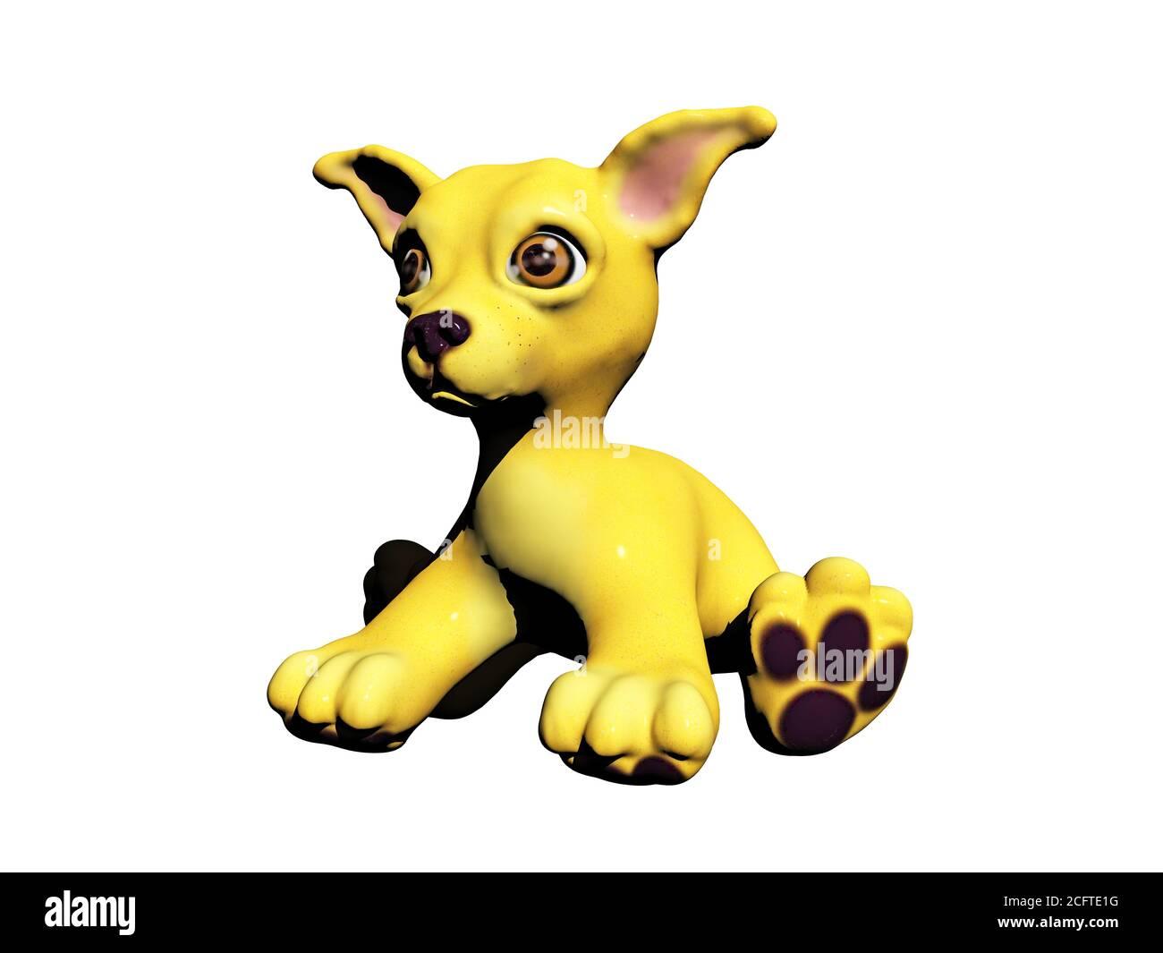 Little Play dog Stock Photo