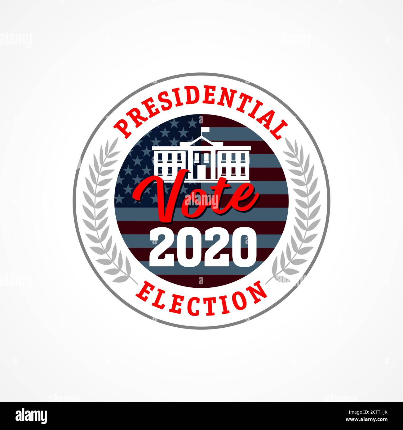 Presidential Election Usa Vote 2020 Emblem Election Day Amid American Flag Debate On The Us Presidential Election Election Voting Vector Template Stock Vector Image Art Alamy