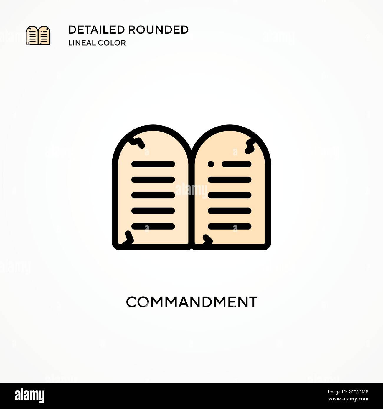 Commandment vector icon. Modern vector illustration concepts. Easy to edit and customize. Stock Vector