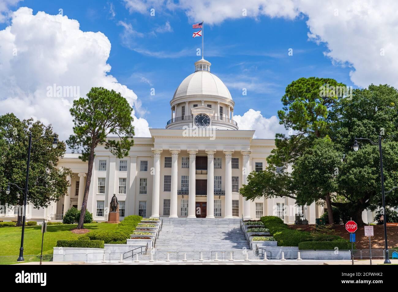 Montgomery, AL / USA - August 27, 2020: Alabama State Capitol building in Montgomery Alabama Stock Photo