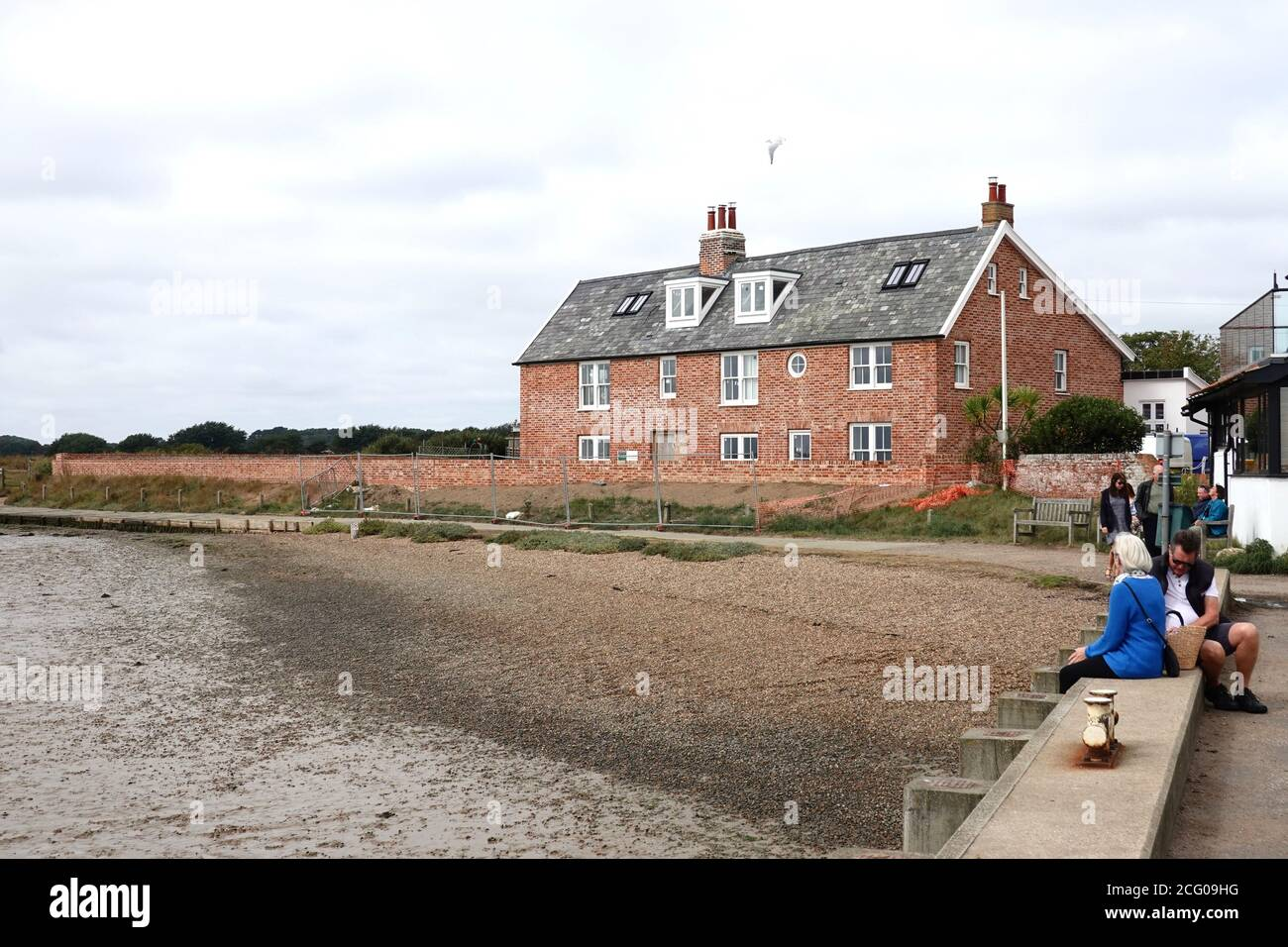 Orford, Suffolk, UK - 8 September 2020: New houses overlooking the River Alde. Stock Photo
