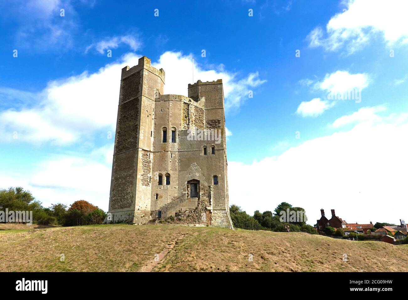 Orford, Suffolk, UK - 8 September 2020: The castle now run by English Heritage. Stock Photo