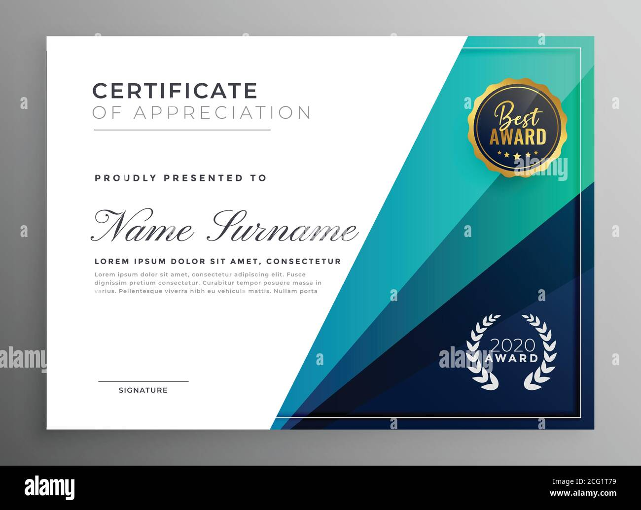 Page 2 Certificate Appreciation Creative Template High Resolution Stock Photography And Images Alamy
