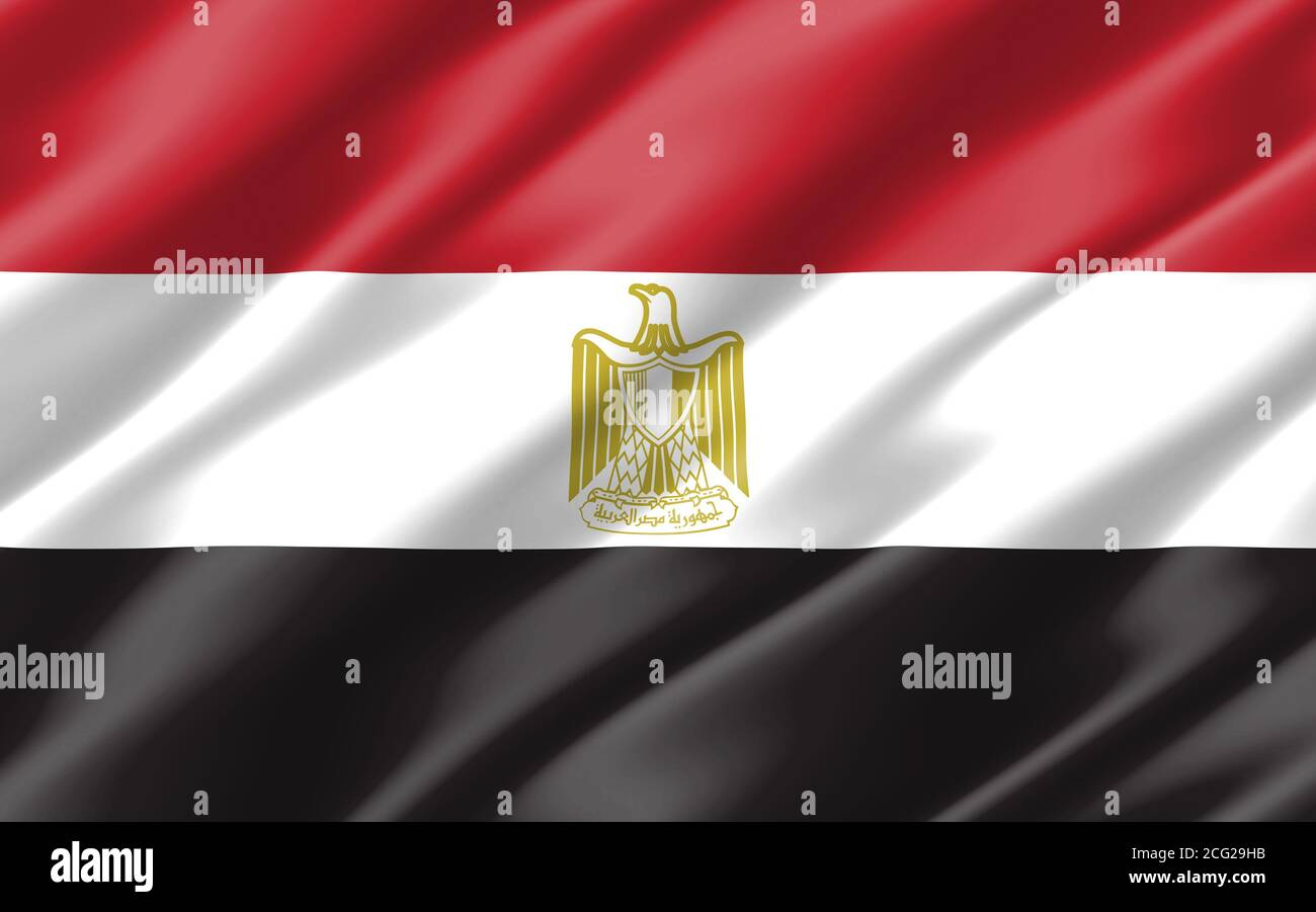 Silk Wavy Flag Of Egypt Graphic Wavy Egyptian Flag Illustration Rippled Egypt Country Flag Is A Symbol Of Freedom Patriotism And Independence Stock Photo Alamy