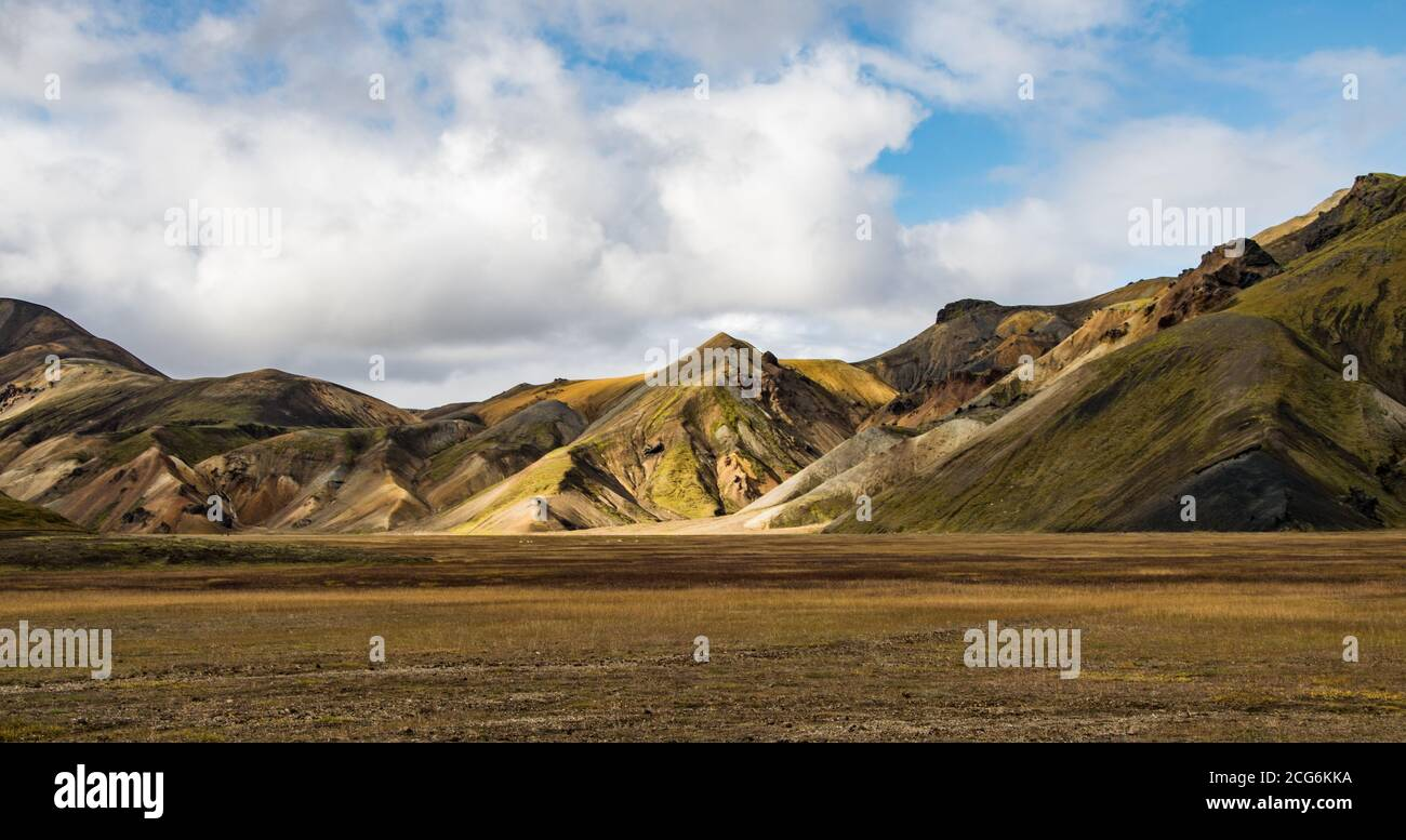 Landmannalaugar, one of the most famous destinations in the icelandic Ighlands Stock Photo