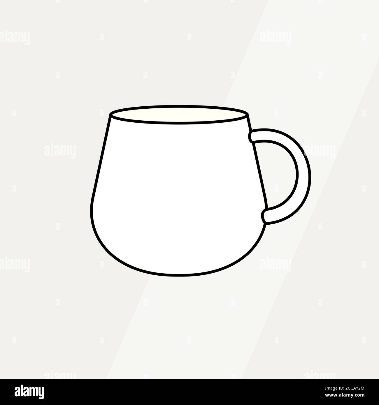 Tea Cup Simple Form Vector Illustration Vector Line Illustration Isolated Mug Logo Icon Cafe Banner Flayer Coffee Shop Stock Vector Image Art Alamy