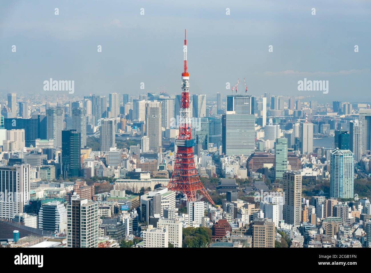 View of Tokyo Tower in Japan Stock Photo