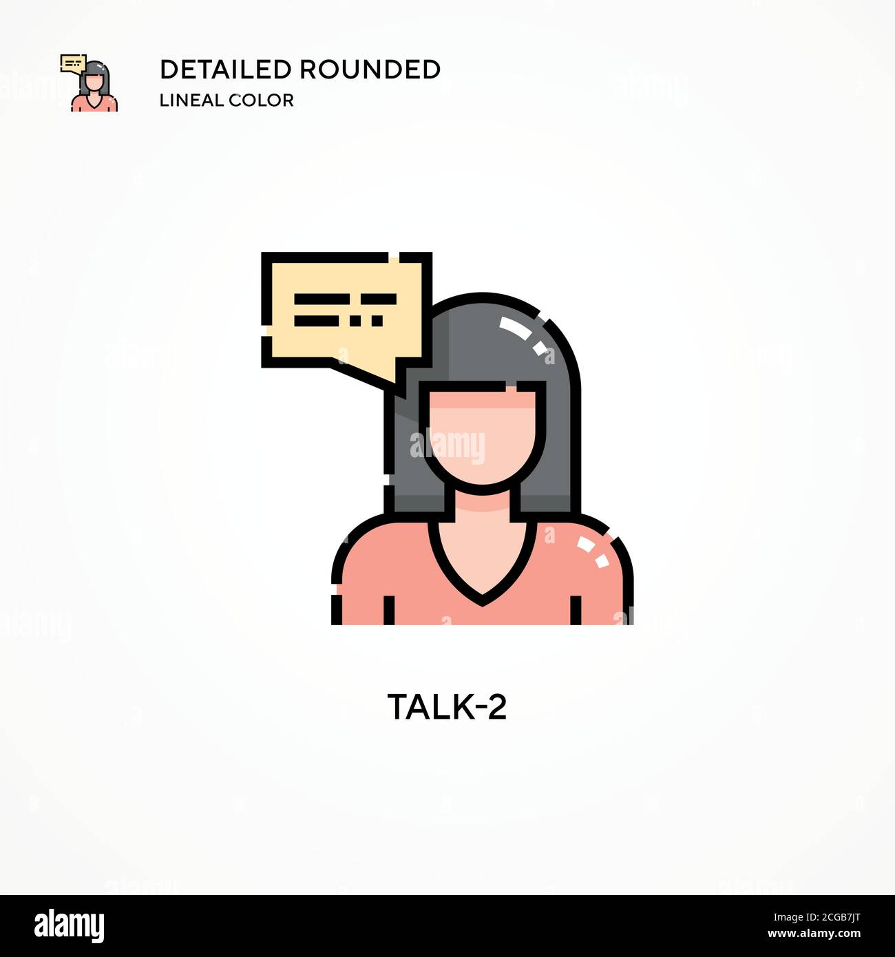 Talk-2 vector icon. Modern vector illustration concepts. Easy to edit and customize. Stock Vector