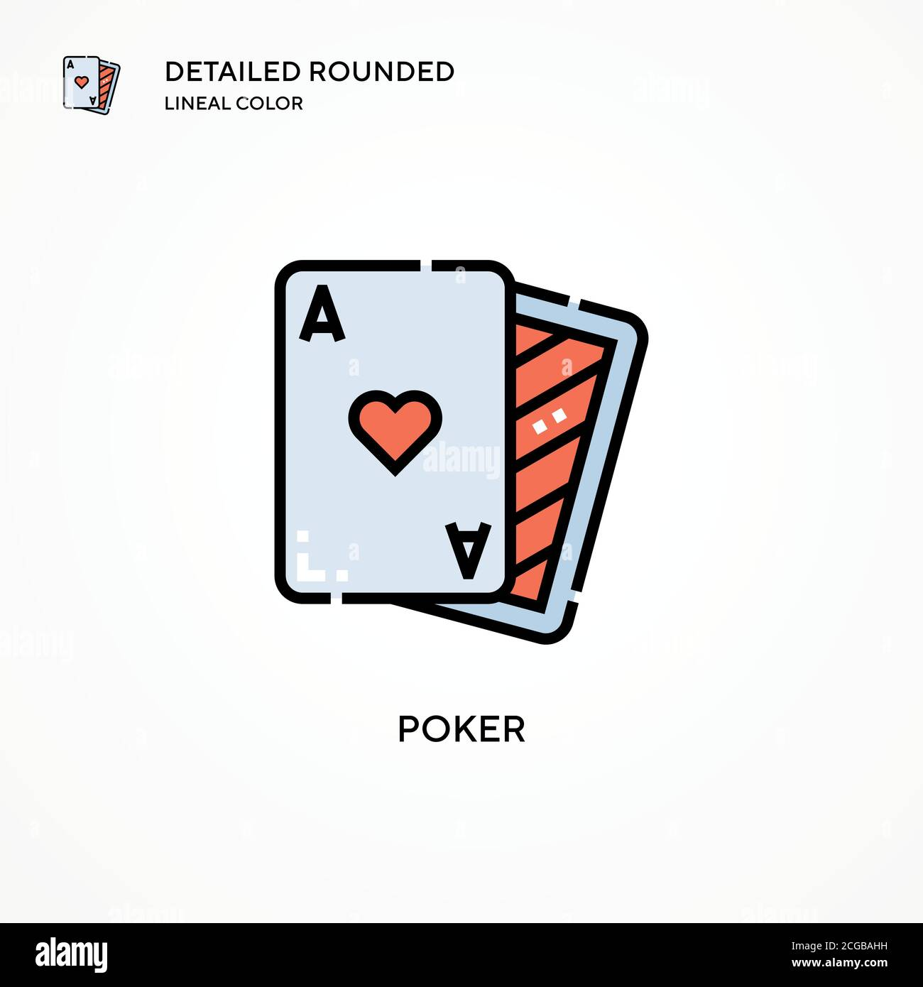 Poker Vector Icon Modern Vector Illustration Concepts Easy To Edit And Customize Stock Vector Image Art Alamy