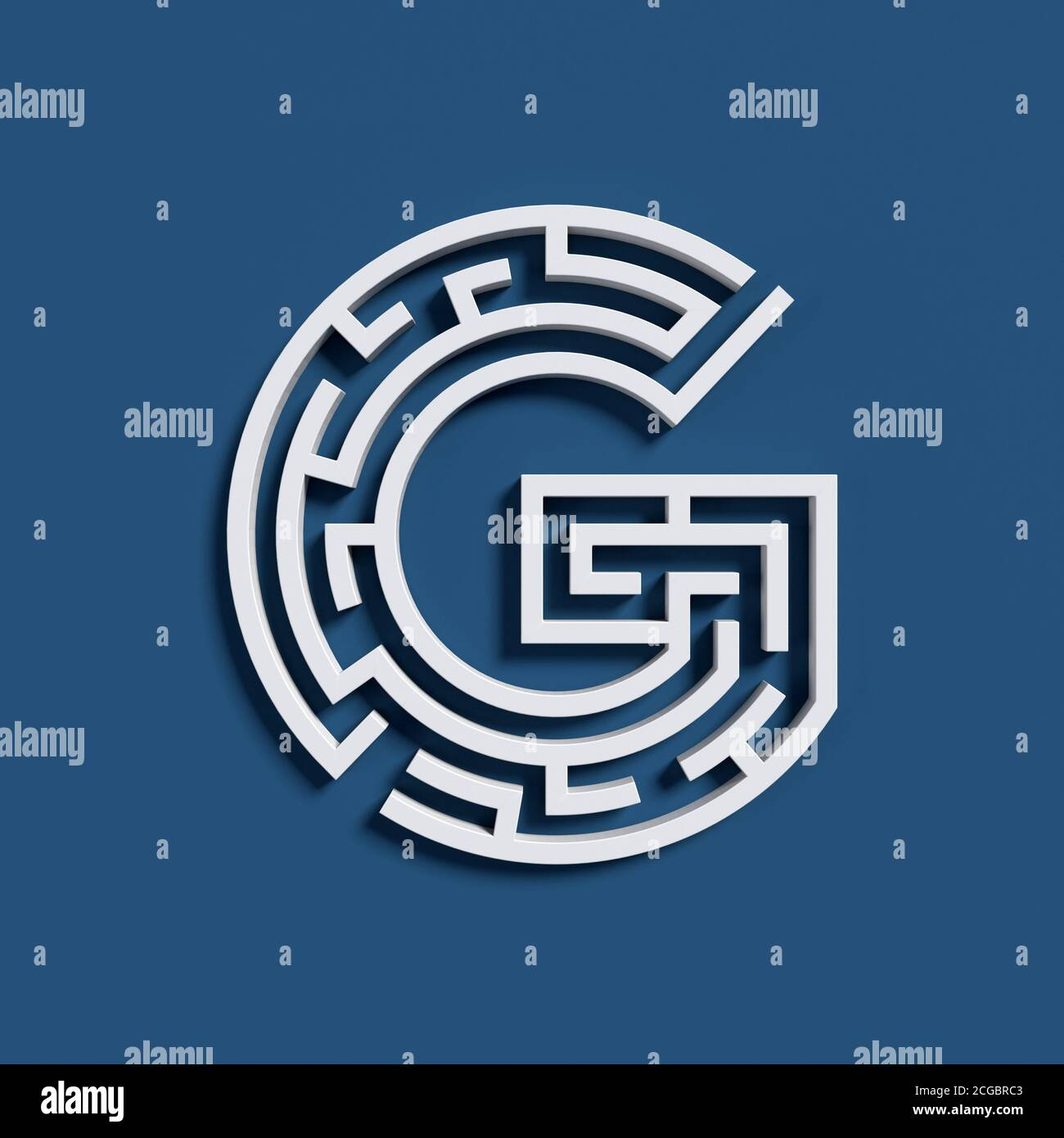 Maze Font Letter G Stock Photo Alamy