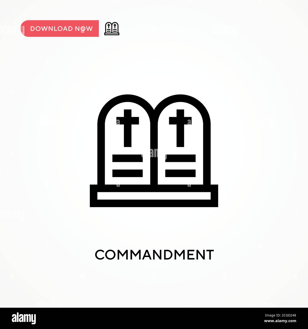 Commandment Simple vector icon. Modern, simple flat vector illustration for web site or mobile app Stock Vector