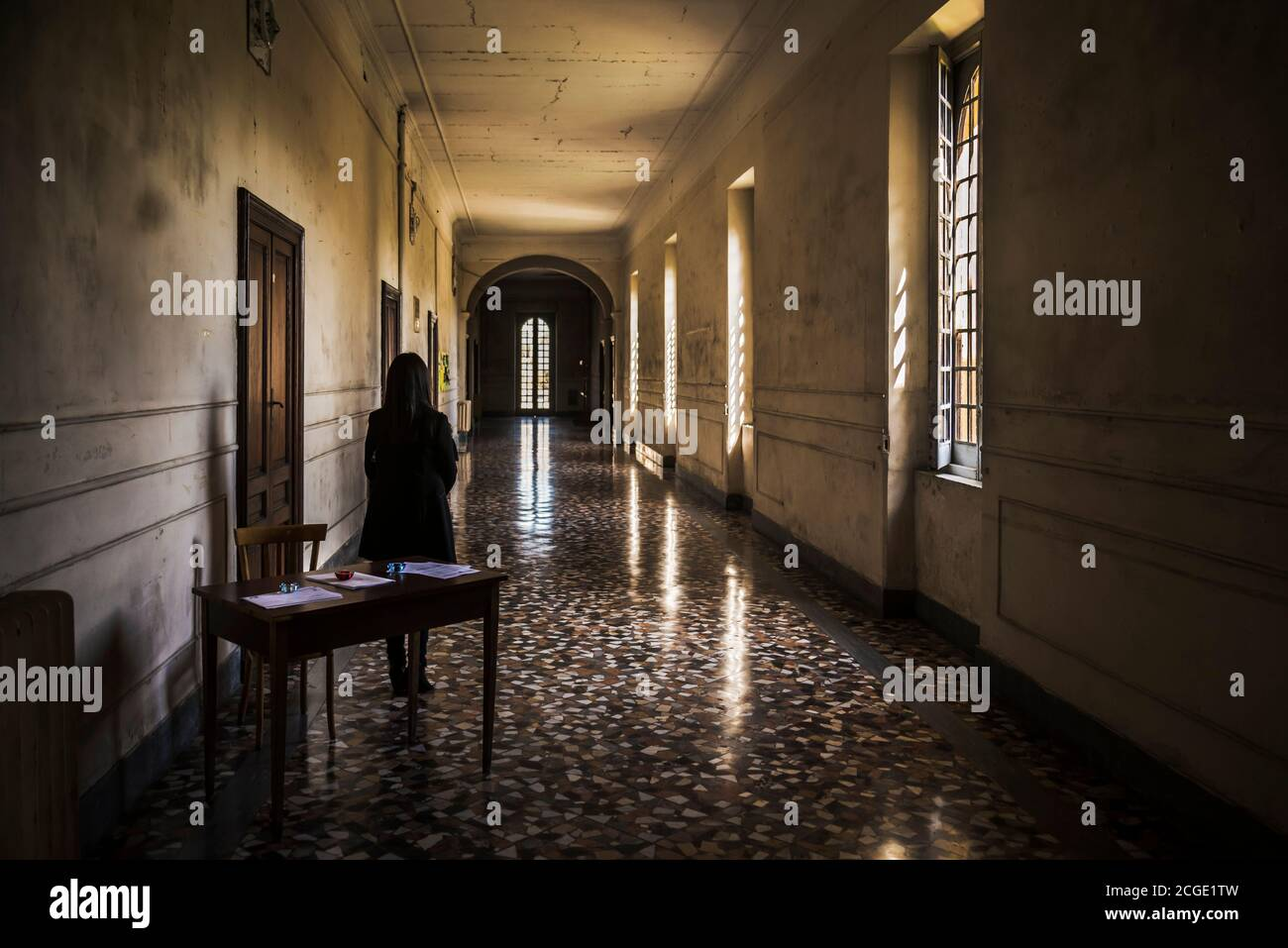 Internal Spaces Into The Abandoned Insane Asylum In Naples Italy Stock Photo Alamy