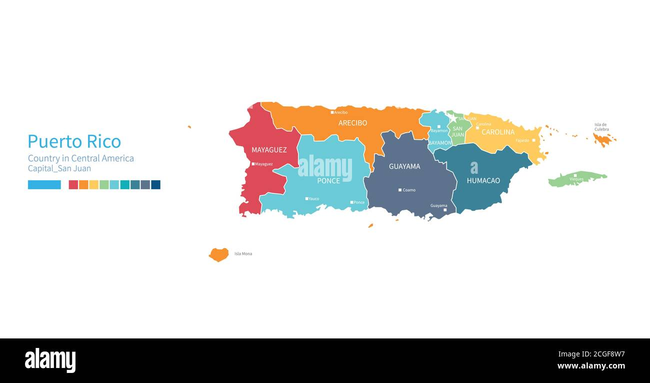 Picture of: Puerto Rico Vector Map High Resolution Stock Photography And Images Alamy