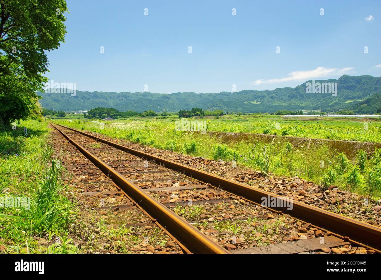Minami Aso Railway, Kumamoto Prefecture, Japan Stock Photo