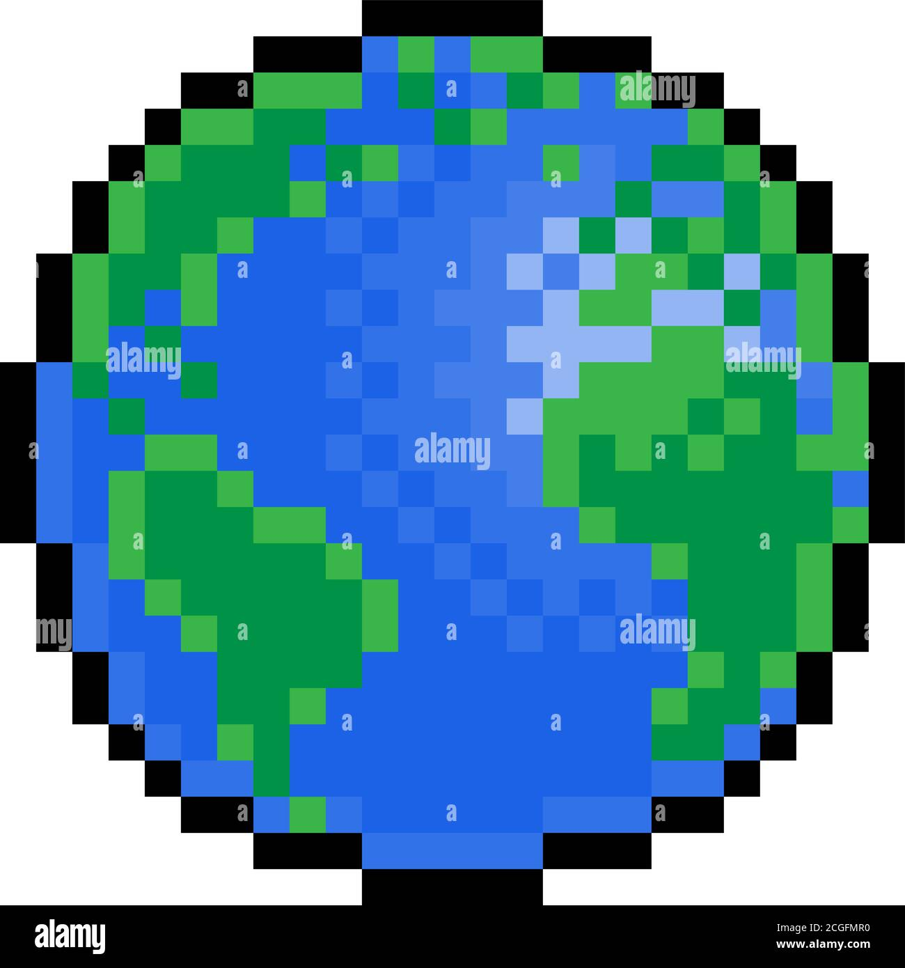 World Earth Globe Eight Bit Pixel Art Game Icon Stock Vector Image Art Alamy