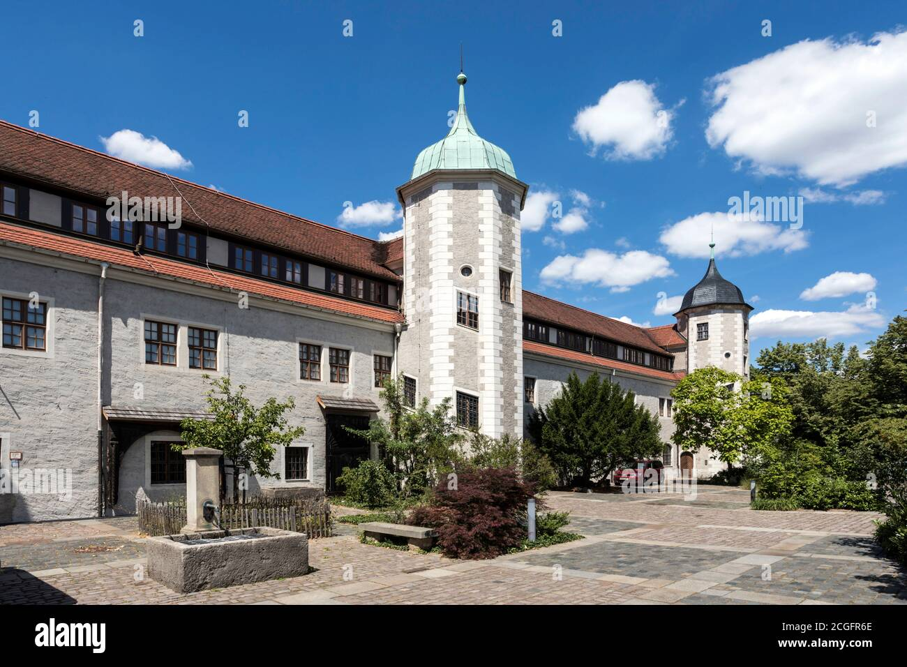 Museum for Saxon Folk Art in Dresden, housed in the Jägerhof from the 16th century - Stock Photo