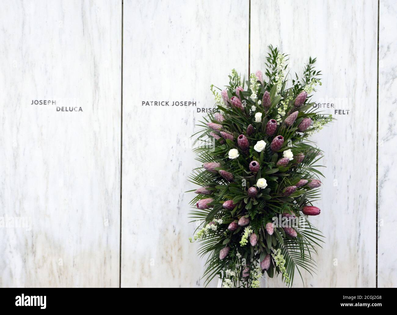 Shanksville, United States. 11th Sep, 2020. A floral display along