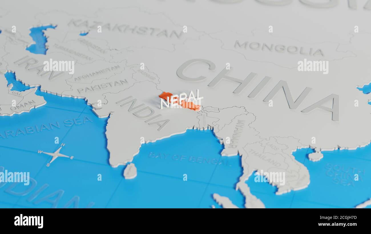 Image of: Nepal Map 3d High Resolution Stock Photography And Images Alamy