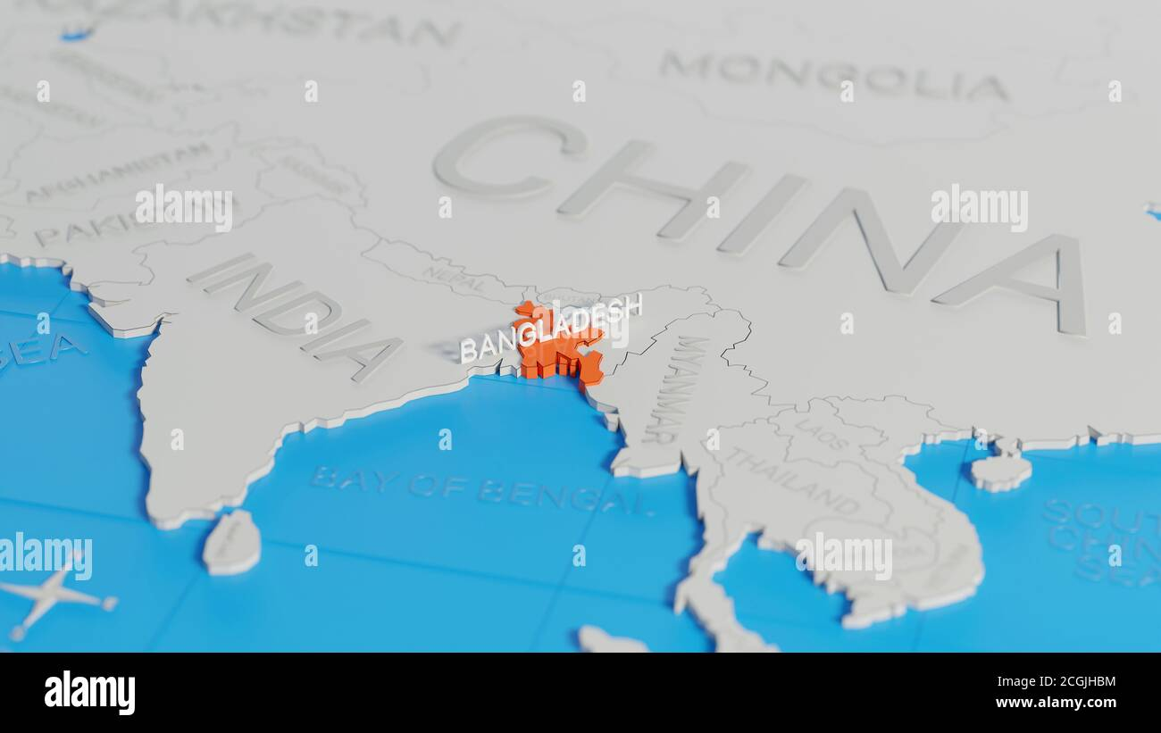 Picture of: Map Of Bangladesh High Resolution Stock Photography And Images Alamy