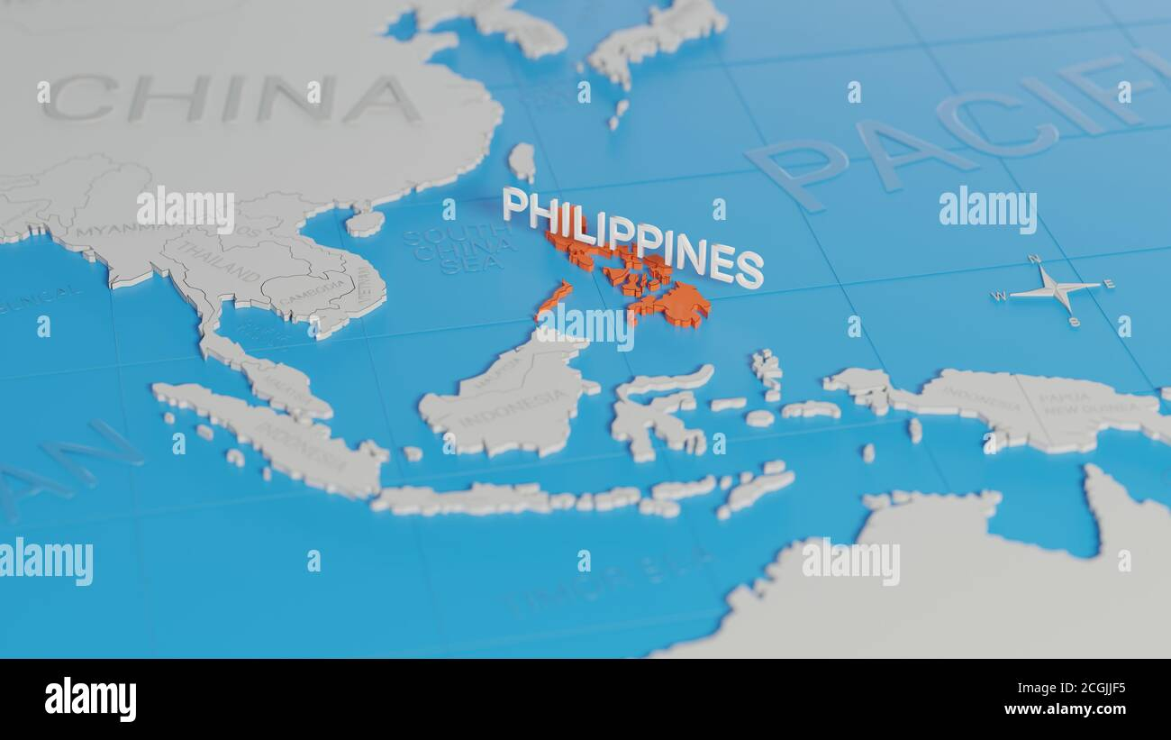 Picture of: Map Of The Philippines High Resolution Stock Photography And Images Alamy