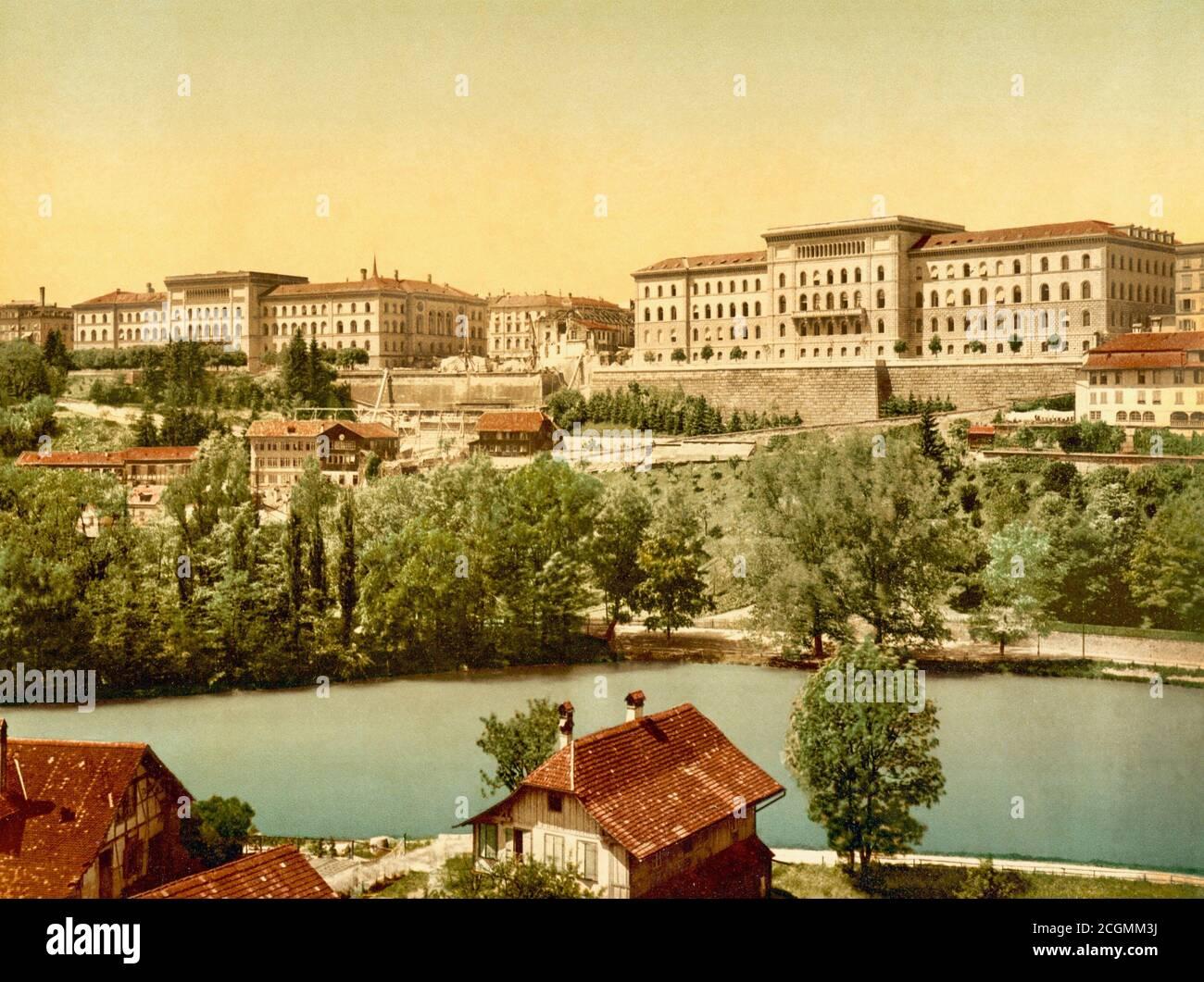 View of Bern, Switzerland 1890. Stock Photo