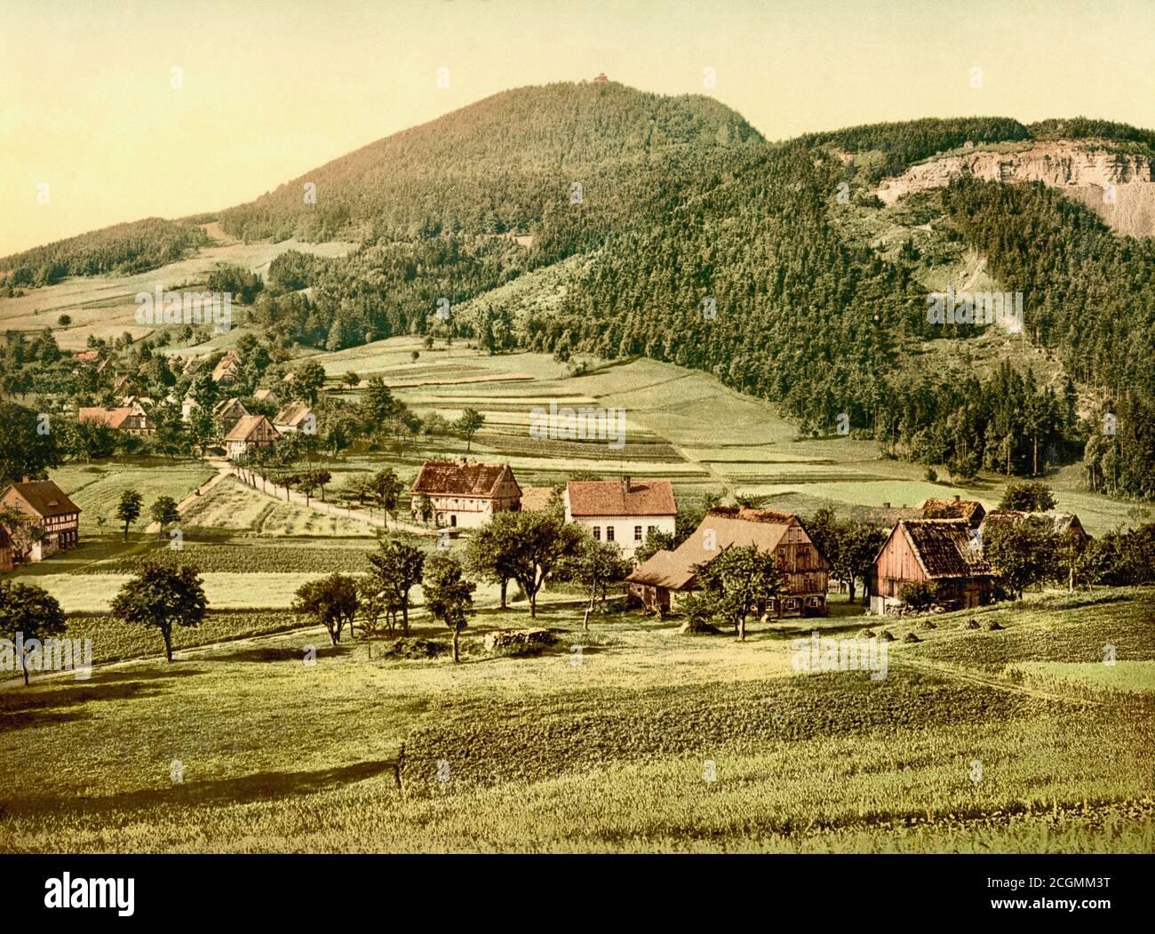Bernese Alps, Bernese Oberland, Switzerland 1890. Stock Photo