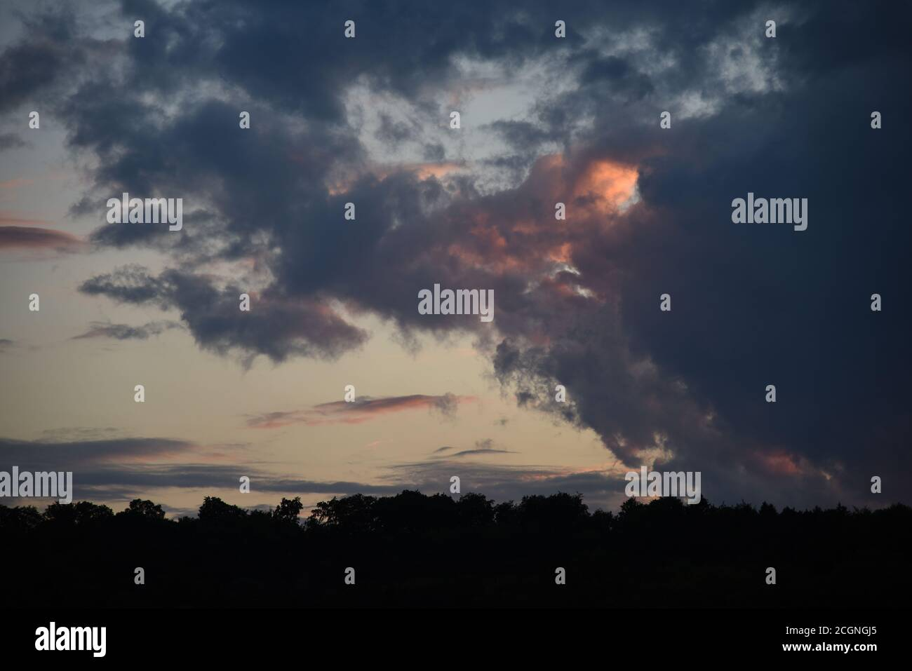 Weather-atmosphere in Ulm Stock Photo
