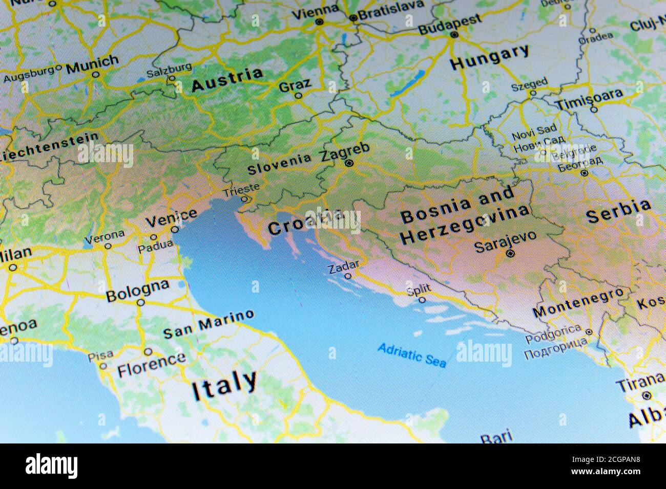 Croatia Maps High Resolution Stock Photography And Images Alamy