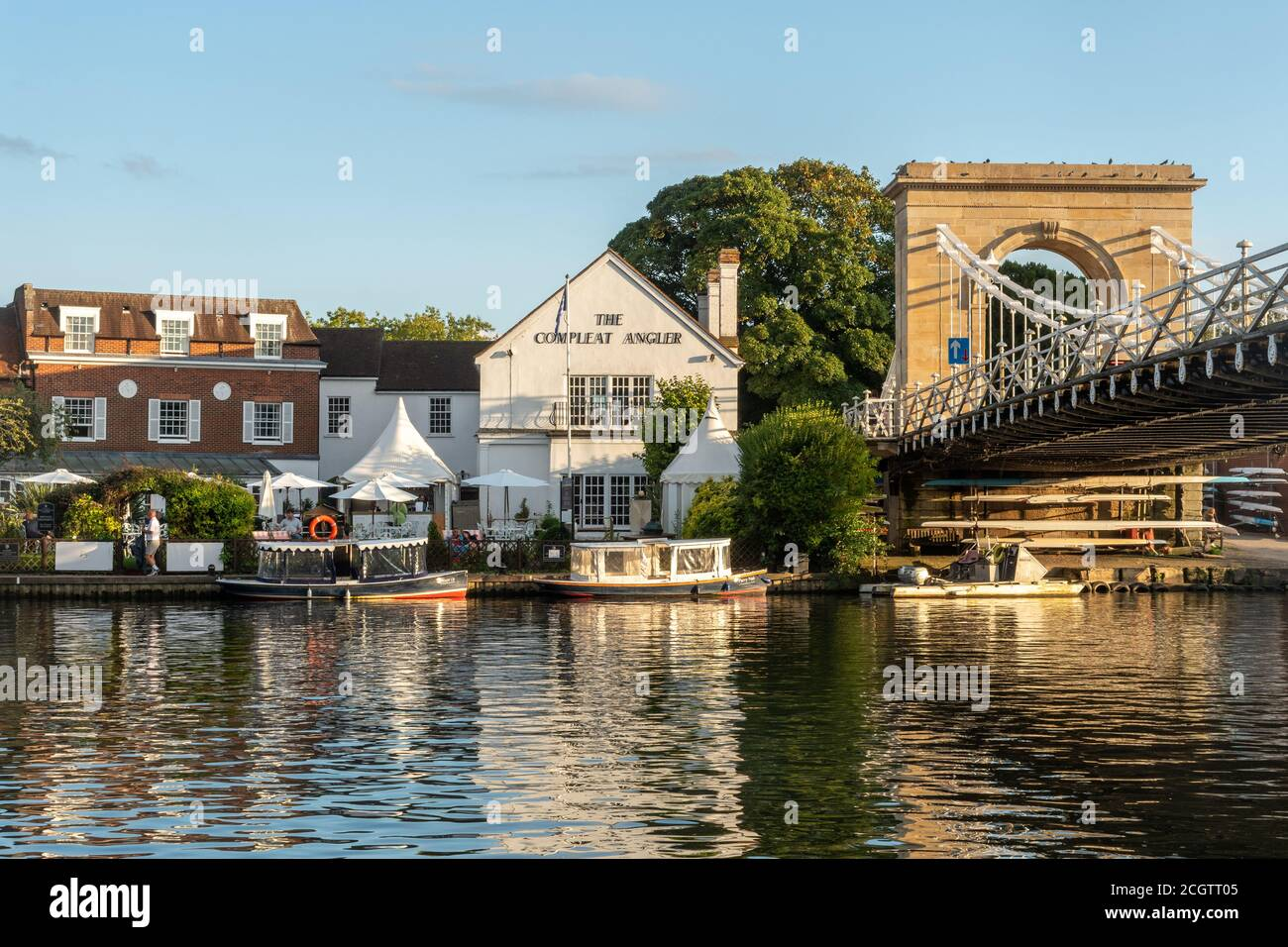 Marlow, a picturesque market town in Buckinghamshire, England, UK, on the River Thames Stock Photo