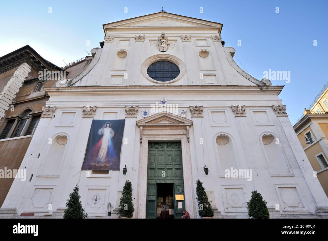 italy, rome, church of santo spirito in sassia Stock Photo