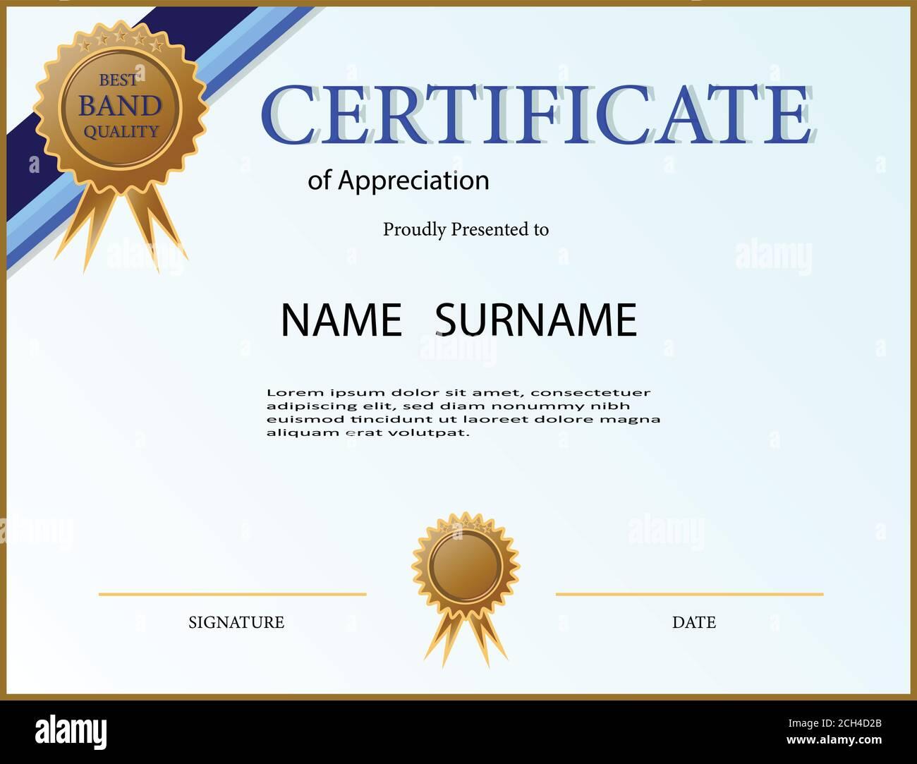 Certificate Appreciation Creative Template High Resolution Stock With Certificates Of Appreciation Template