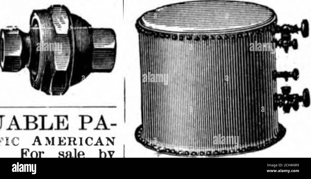 . Scientific American Volume 85 Number 01 (July 1901) . ..Tl . REAL ESTATE. TRUST BIDG PWILA,, PA. regealed ice machines: SEE FIRST PAGE SCI£NTIF1C AMERICAN StPT.2. 18 9.9. MORAN FLEXIBLE JOINT tor 8teain, Air or Ijiqiiids. Made in all sizes to stand any desired pressure.Moran Flexible Steam Joint Co.. Incd,149 East 3d Ht. LornaviLi.E. Ky. CONTROL OF FIRE.—VALUABLE PA- per on fire extinguishment. Scientific AmericanSUPPLKJIENT 1i:{l. Price 10 cents. For sale byMunn & Co. and all newsdealers. AUTOMOBILE STEAM BOILERS These Boilers aremade of Arebox steel, which has a tensilestrength of 55,000 p Stock Photo