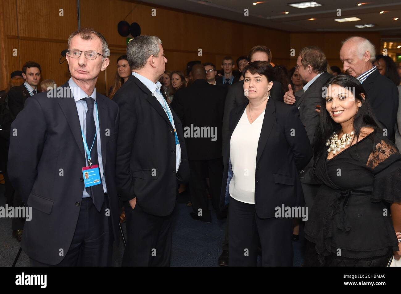 Kevin Watkins Paul Goodman Ruth Davidson And Priti Patel And Guests At The Save The Children Evening Reception At The Conservative Party Conference Stock Photo Alamy