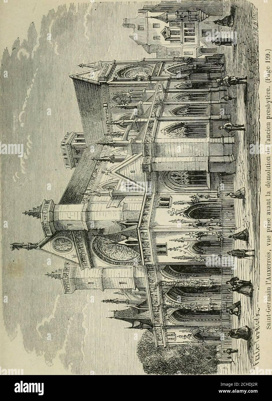 . Les merveilles du nouveau Paris-- . a été bâtie à différentes épo-ques : on y travaillait en 1347, on lagrandit en 1489; quel-ques parties de lintérieur datent du onzième siècle, presquetout date du quinzième; cependant la trace du dix-septièmese fait aussi sentir dans plusieurs détails de lornementa-tion. Le maître-autel, dont il ne reste quun débris, a été exé-cuté par Baptiste Tubi, sur les dessins de Charles le Brun. Le magnifique buffet dorgues date de 1447. Les cendres de Pasquier et des frères Sainte-Marthe re-posent dans cette église. Léglise Saint-Gervais, commencée vers lan 1212, f Stock Photo