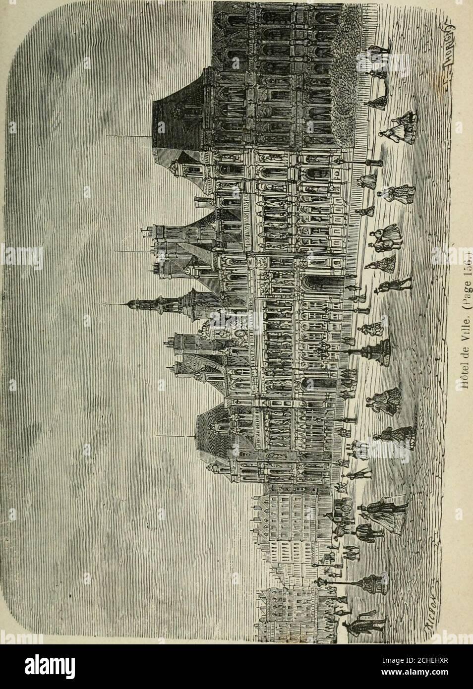 . Les merveilles du nouveau Paris-- . end sur le quai Conti une façade de centvingt mètres; elle renferme dans une vaste salle, supportéepar des colonnes corinthiennes, une intéressante collectionde monnaies et de médailles. Cet hôtel a été construit à Paris, sur lemplacement delhôtel de Conti, en 1771. Cest là que lon frappe les mon-naies et les médailles. Dès les premiers temps de la monar-chie, les rois frappaient la monnaie. Ainsi, en 864, nousvoyons, par un capitulaire de Charles le Chauve, que la fa-brication de la monnaie avait lieu dans le palais même duroi. Cet établissement, transpor Stock Photo