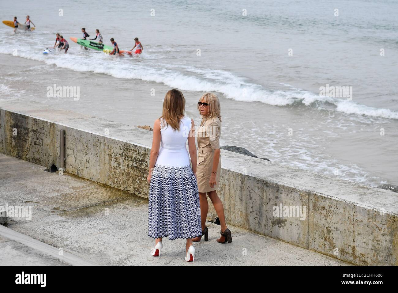 Emmanuel Macron Beach High Resolution Stock Photography And Images Alamy