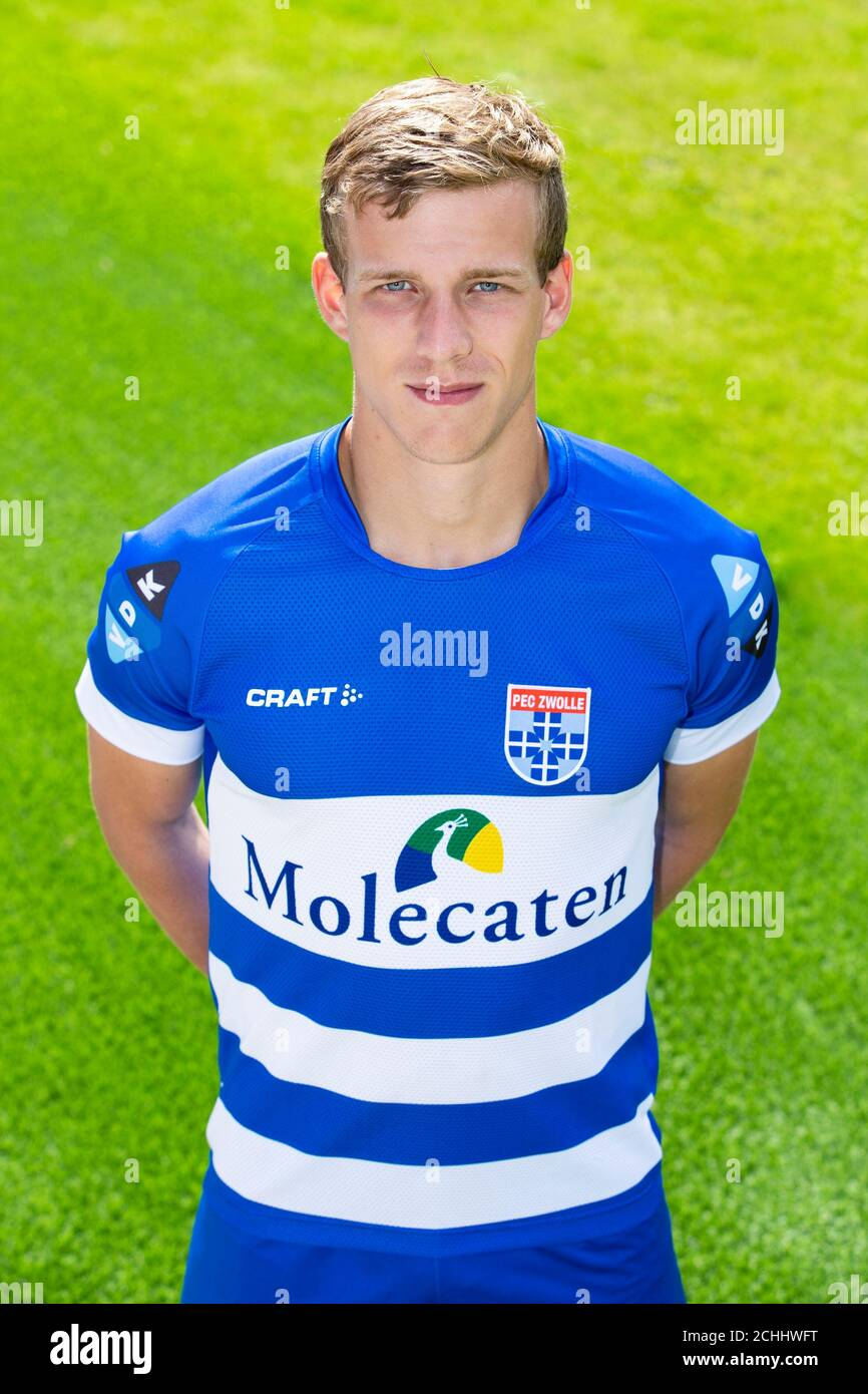 Zwolle 07 09 2020 Pec Zwolle Stadion Dutch Eredivisie Pre Season 2020 2021 Photocall Pec Zwolle Pec Zwolle Player Jarno Westerman Posing For Photo During Photocall Stock Photo Alamy