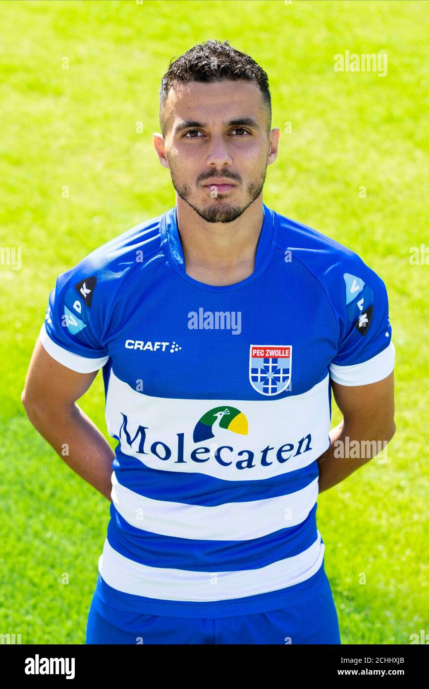Zwolle 07 09 2020 Pec Zwolle Stadion Dutch Eredivisie Pre Season 2020 2021 Photocall Pec Zwolle Pec Zwolle Player Mustafa Saymak Posing For Photo During Photocall Stock Photo Alamy