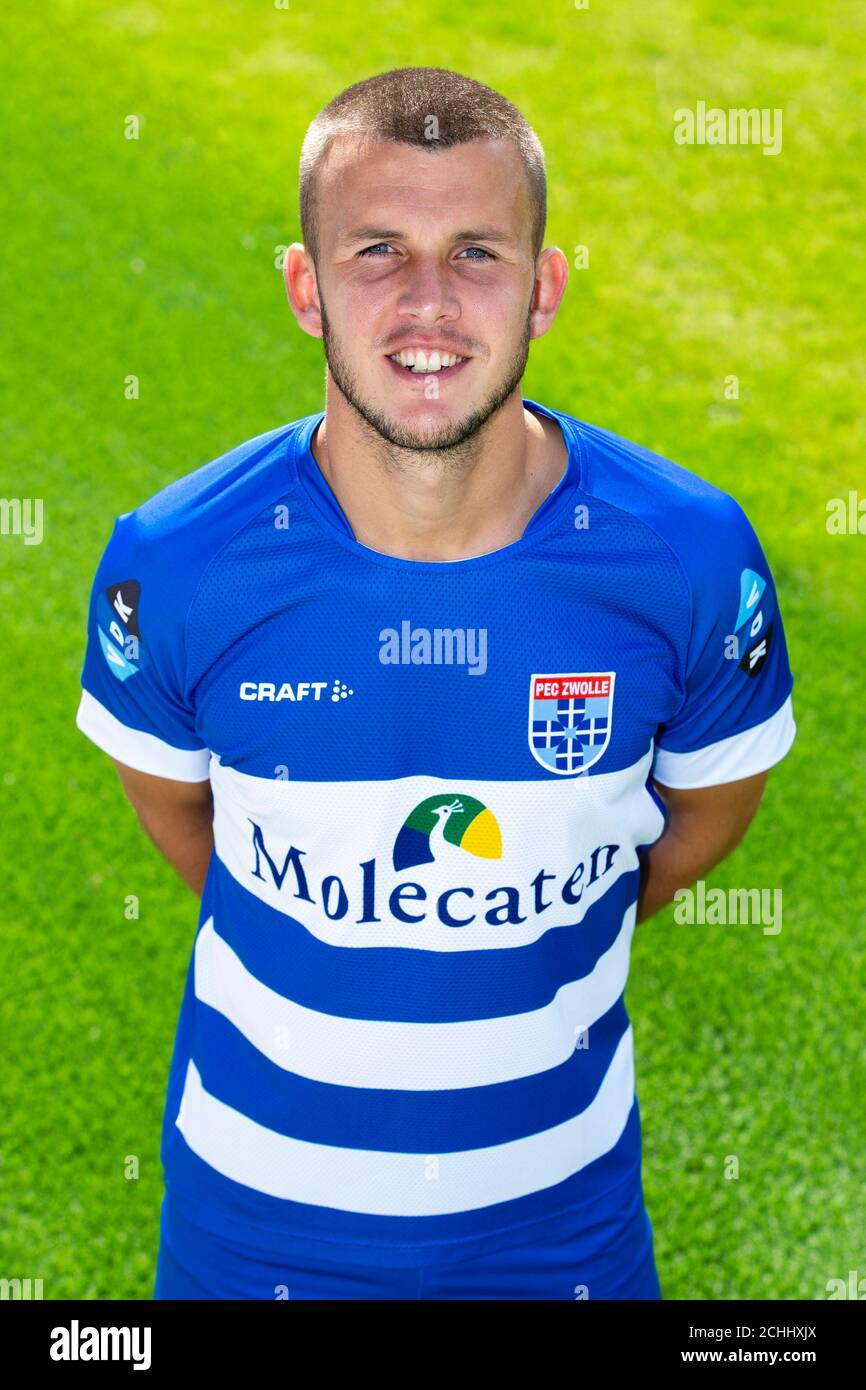 Zwolle 07 09 2020 Pec Zwolle Stadion Dutch Eredivisie Pre Season 2020 2021 Photocall Pec Zwolle Pec Zwolle Player Jesper Drost Posing For Photo During Photocall Stock Photo Alamy