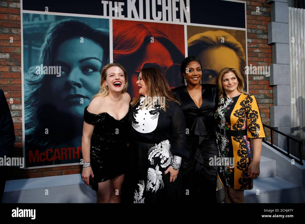 Cast Members Tiffany Haddish Melissa Mccarthy Elisabeth Moss And Director Andrea Berloff Attend The Premiere For