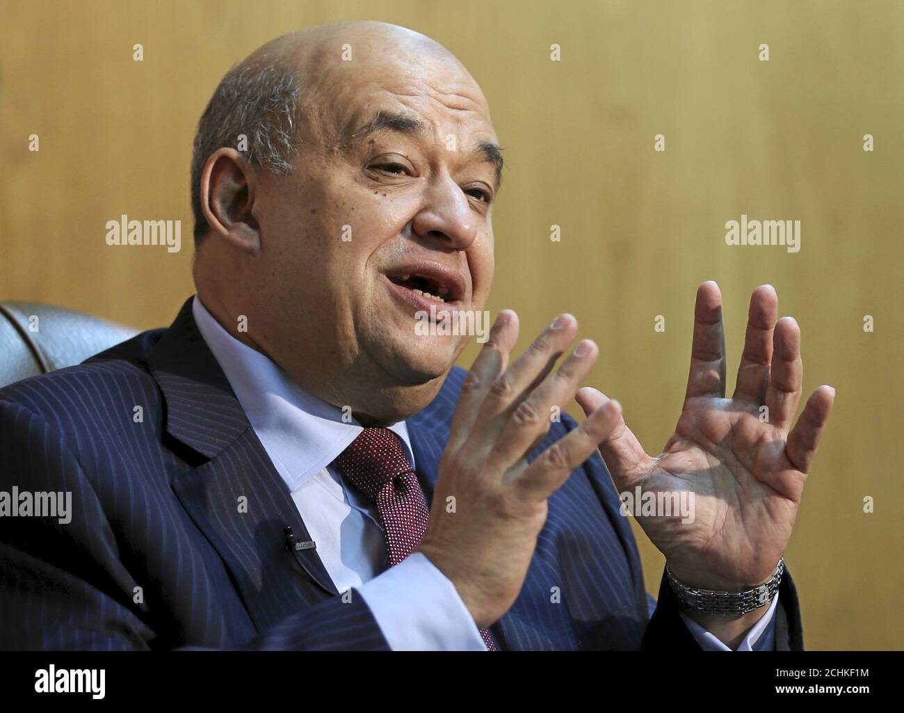 Egyptian Tourism Minister Yehia Rashed Speaks During An Interview With Reuters At His Office In Cairo Egypt April 7 2016 Reuters Mohamed Abd El Ghany Stock Photo Alamy