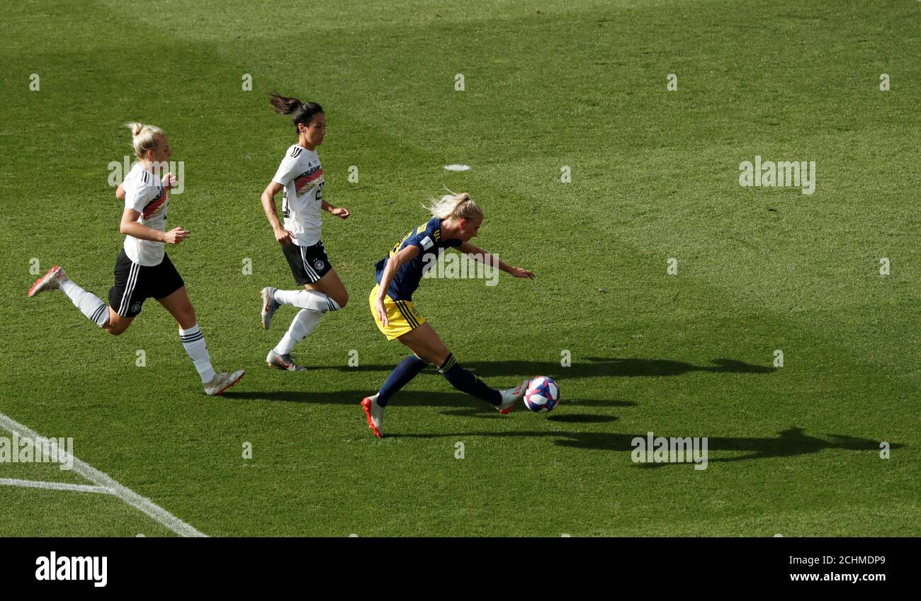Soccer Football Women S World Cup Quarter Final Germany V Sweden Roazhon Park Rennes France June 29 2019 Sweden S Sofia Jakobsson Scores Their First Goal Reuters Benoit Tessier Stock Photo Alamy