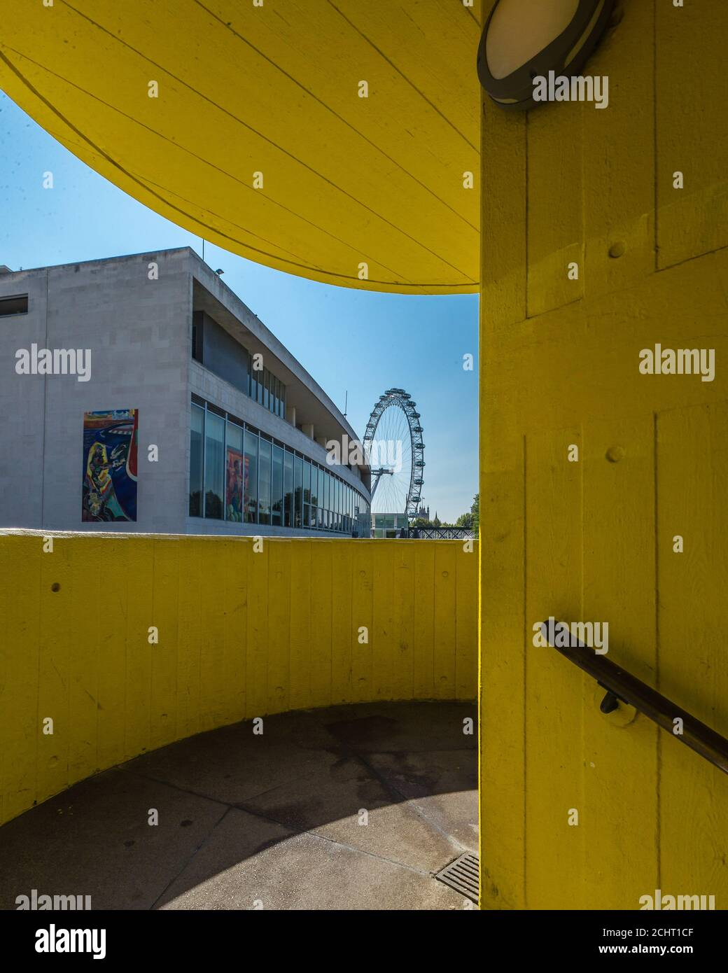 Southbank Centre, Festival Hall, and the London Eye all lay abandoned during lockdown-easing in London. Stock Photo