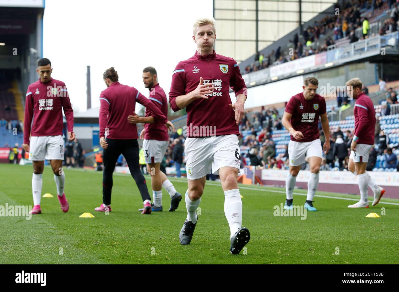 Soccer Football Premier League Burnley V Everton Turf Moor Burnley Britain October 5 2019 Burnley S Ben Mee During The Warm Up Before The Match Reuters Andrew Yates Editorial Use